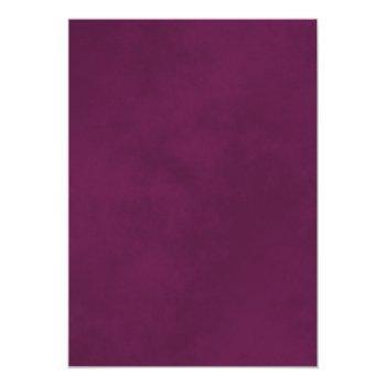 Small Lacy Silver Cassis Purple & White Virtual Wedding Invitation Back View
