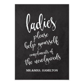 ladies bathroom basket affordable chalkboard sign invitation