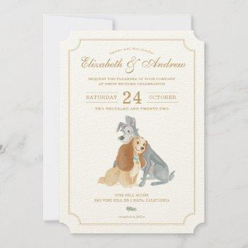 lady and the tramp wedding invitations