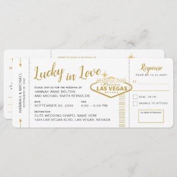 las vegas destination wedding boarding pass ticket invitation