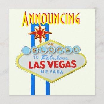las vegas elope  wedding announcement