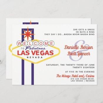 las vegas sign wedding invitation