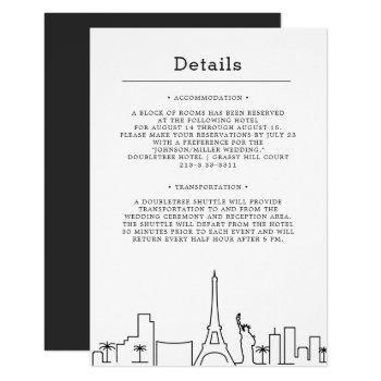 las vegas wedding | guest details invitation