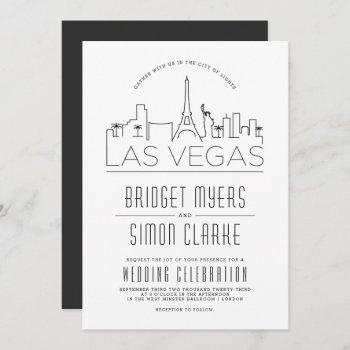las vegas wedding | stylized skyline invitation