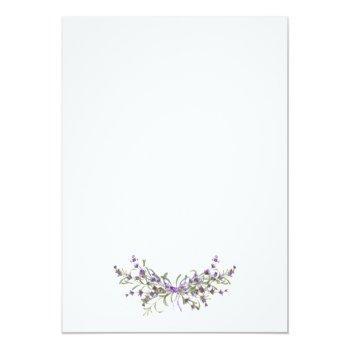 Small Lavender Florals Boho Modern Wedding Invitation Back View