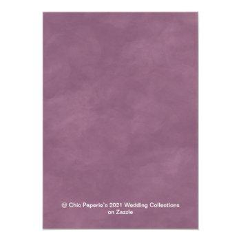 Small Lavender & Pink 2021 Wedding Color Palette Card Back View