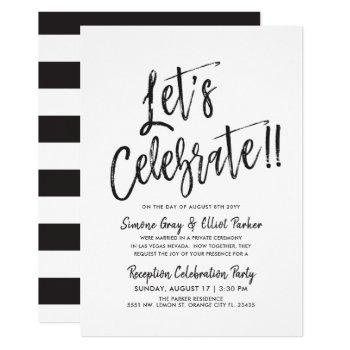 let's celebrate | post wedding party invitation