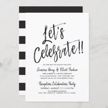 let's celebrate | post wedding party invitation