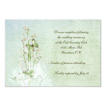 lily of the valley rsvp invitation