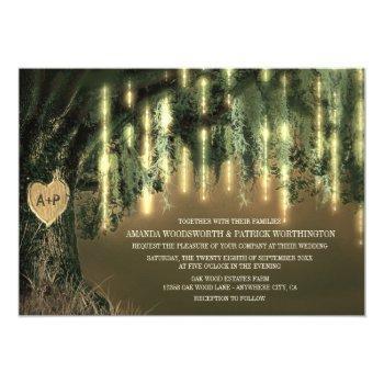 live oak tree spanish moss wedding invitations