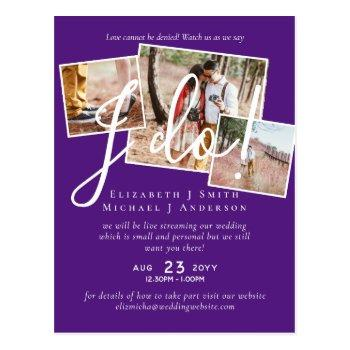 livestreaming watch us say i do! photo wedding postcard