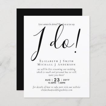livestreaming wedding invites - watch us say i do!