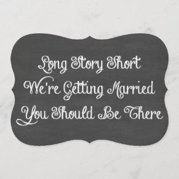 long story short | chalkboard invitation