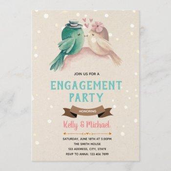 love bird engagement party invitation