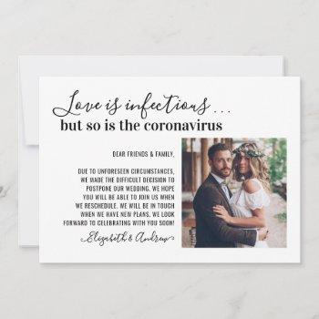 love is infectious 2 photo change the date wedding announcement