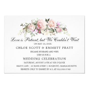 love is patient wedding announcement invitation