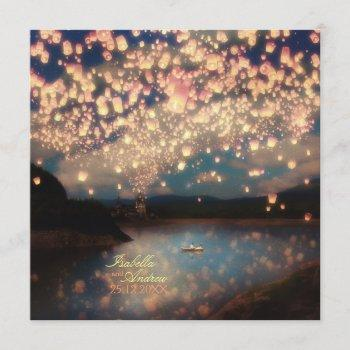 love wish lanterns invitation