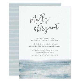 low tide wedding invitation