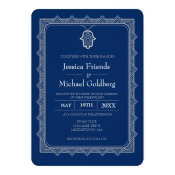 lt. gray hamsa geometric wedding invitation