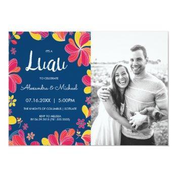 luau invite - hawaiian tropical party w/ photo