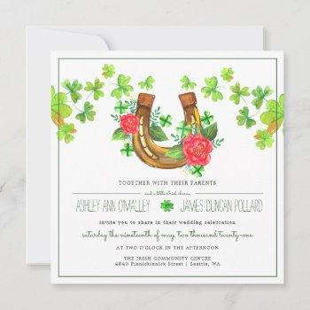 lucky in love | irish wedding invitation