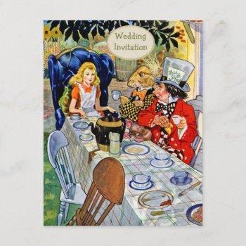 mad hatter's tea party wedding invitation