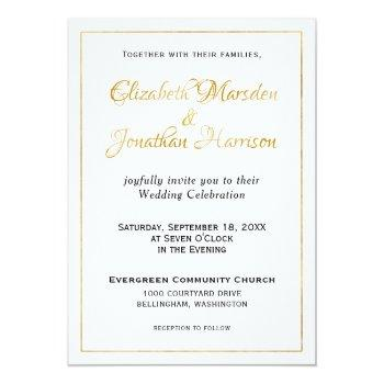 many waters scripture elegant formal gold script invitation