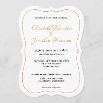 many waters scripture elegant formal gold script invitation
