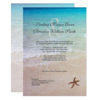 married by the sea beach destination wedding invitation