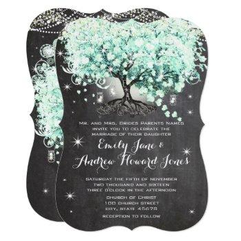 mason jar mint chalkboard heart leaf tree invitation
