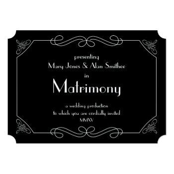 matrimony invitation