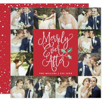 merrily ever after wedding holiday 12 photo card