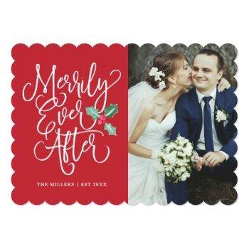 merrily ever after wedding holiday/thank you photo invitation