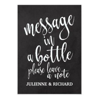 message in a bottle affordable chalkboard sign invitation