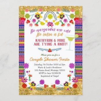 mexican couple shower fiesta invitation