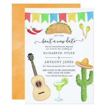 mexican fiesta taco 'bout a new date wedding invitation