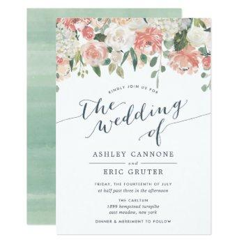 midsummer | watercolor floral wedding invitation
