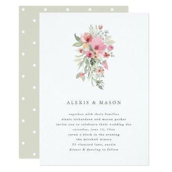 minimalist bloom | wedding invitation