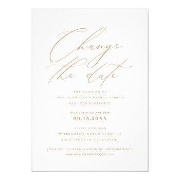 minimalist modern calligraphy | change the date invitation