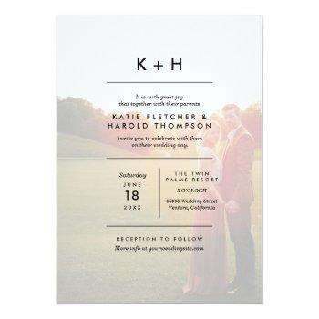 minimalist photo wedding invitation