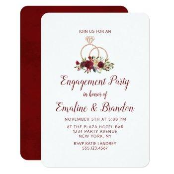 mistletoe manor wedding rings engagement party invitation