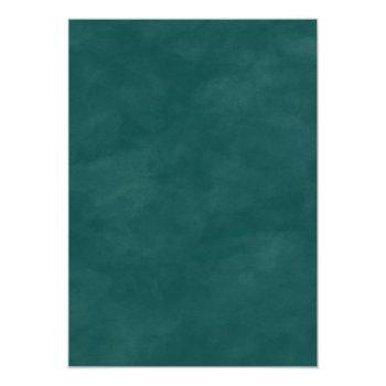 Small Modern Abstract Teal Copper & Gold Fall Wedding Invitation Back View