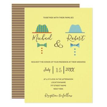 modern colorful awesome gay wedding invitation