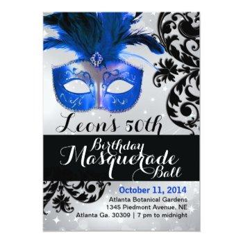 Small Modern Masquerade Ball Invitation Front View