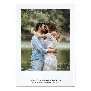 Small Modern Photo Virtual Wedding Ceremony Invitation Back View