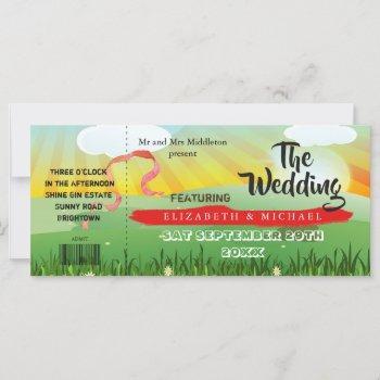 modern rustic festival  wedfest wedding invitation