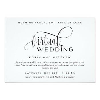 Small Modern Simple Online Virtual Wedding Invitation Front View