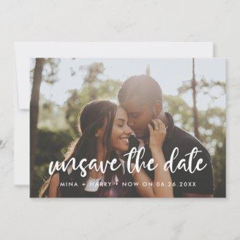 modern typography unsave the date photo card