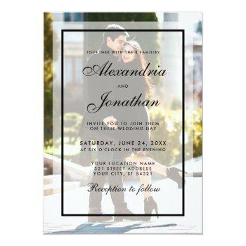modern wedding photo invitation - overlay