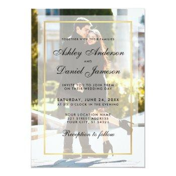 modern wedding photo invitation overlay g